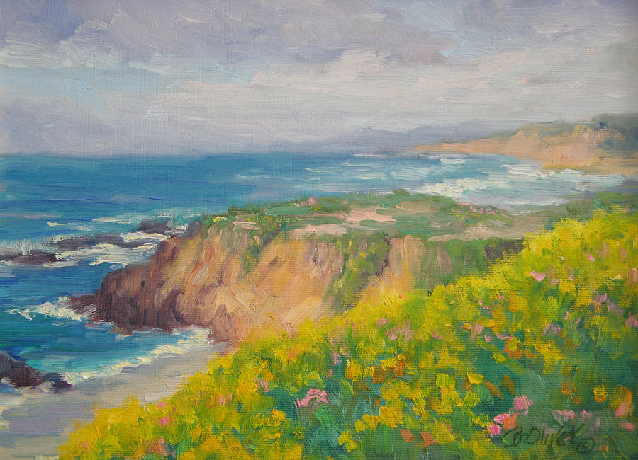 Seascape Painting - Pacific Sun by Bunny Oliver