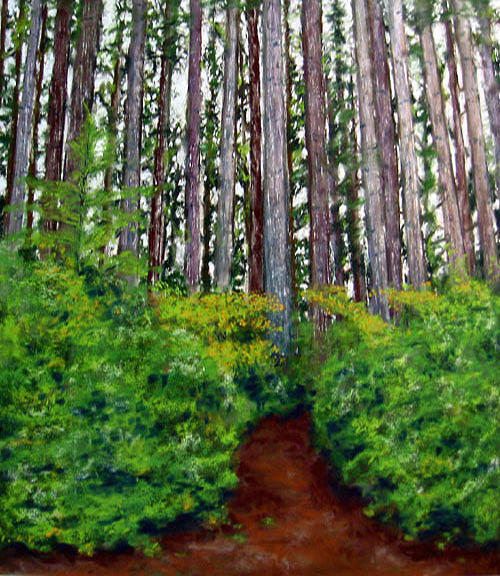 Landscape Painting - Pacific Trail  by Carl Capps