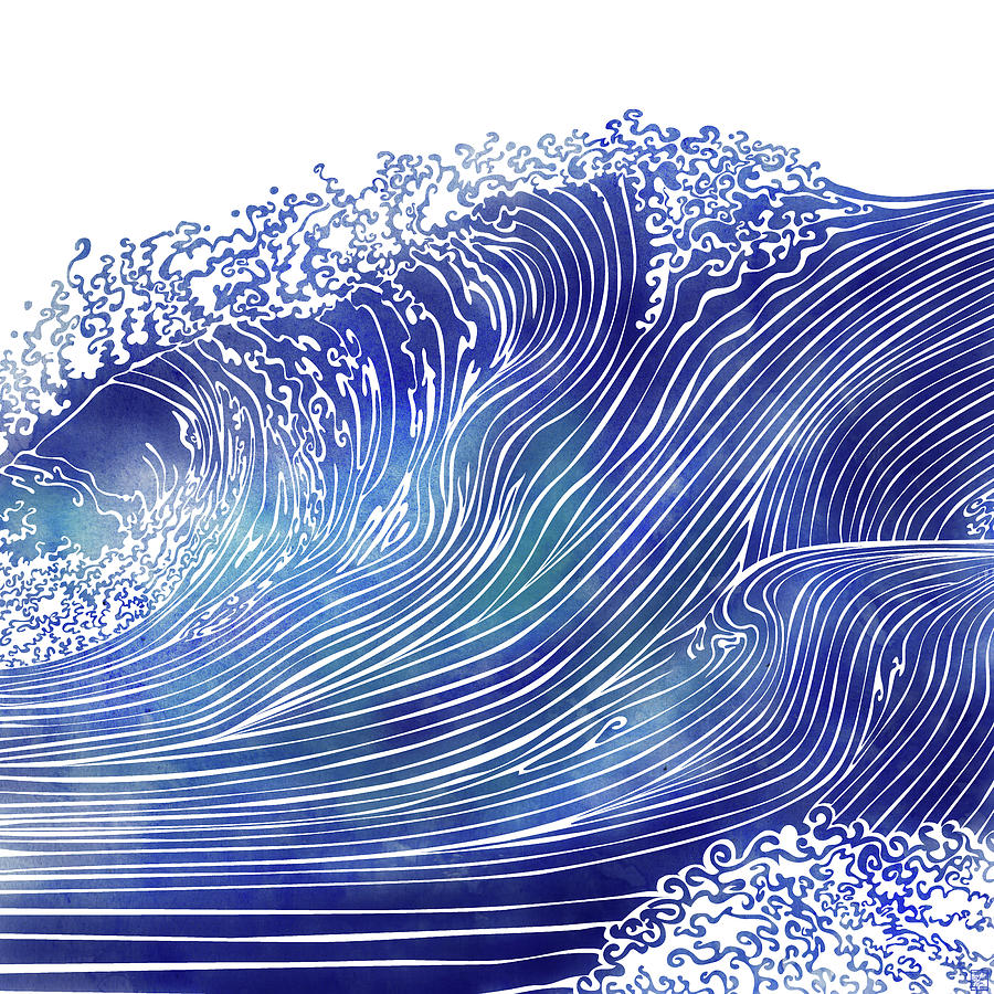 Swell Mixed Media - Pacific Waves by Stevyn Llewellyn
