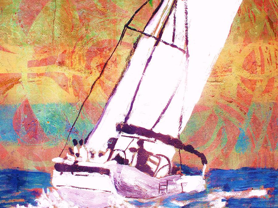 Sailboat Painting - Pacific Wind by Samuel Banks