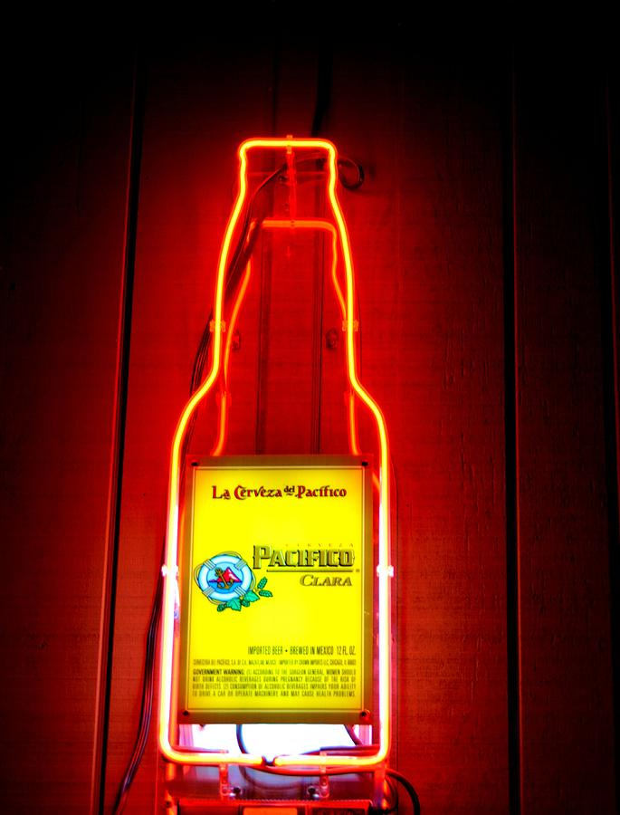 Pacifico Beer Neon Sign Photograph by Richard Jenkins