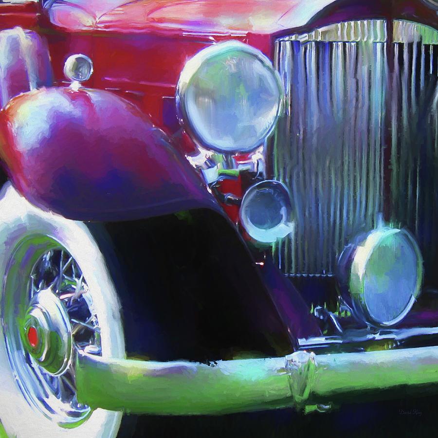 Automotive Digital Art - Packard Close Up by David King
