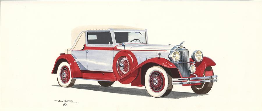 Transportation Painting - Packard Coupe Roadster 1932 by John Kinsley