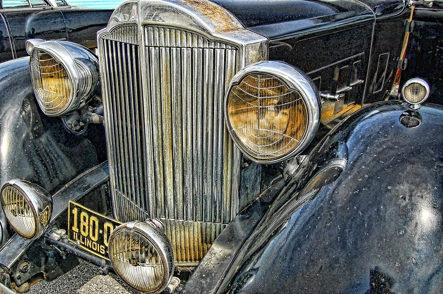 Antique Auto Photograph - Packard by Nick Roberts