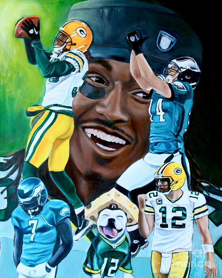 Football Painting - Packers  Glorious Moments by Dawn Graham