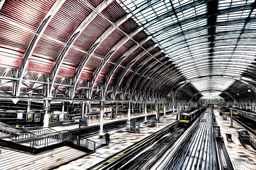 London Sketch Photograph - Paddington Station London Sketch by David Pyatt