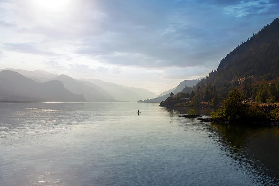 Paddle Photograph - Paddle Boarding On The Columbia River by David Gn