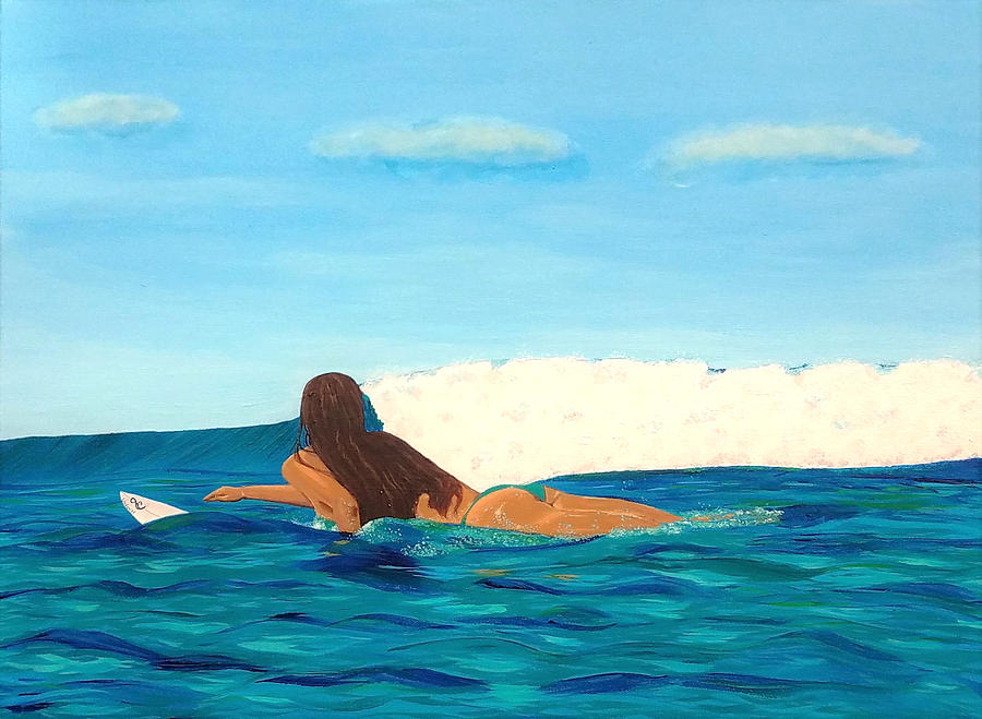 Paddle Out Surfer Girl by Jenn C Lindquist