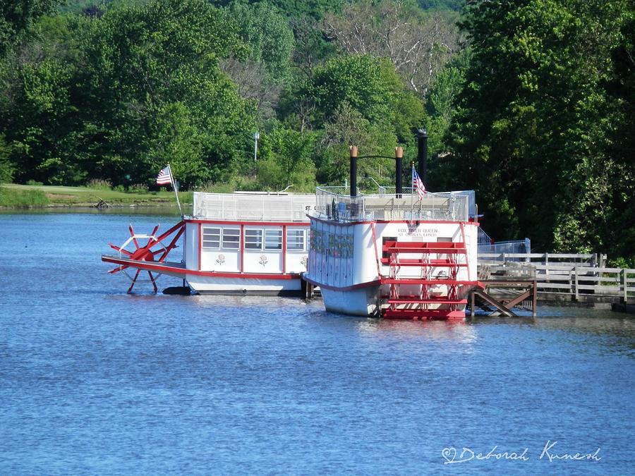 Paddleboat on the River by Deborah Kunesh