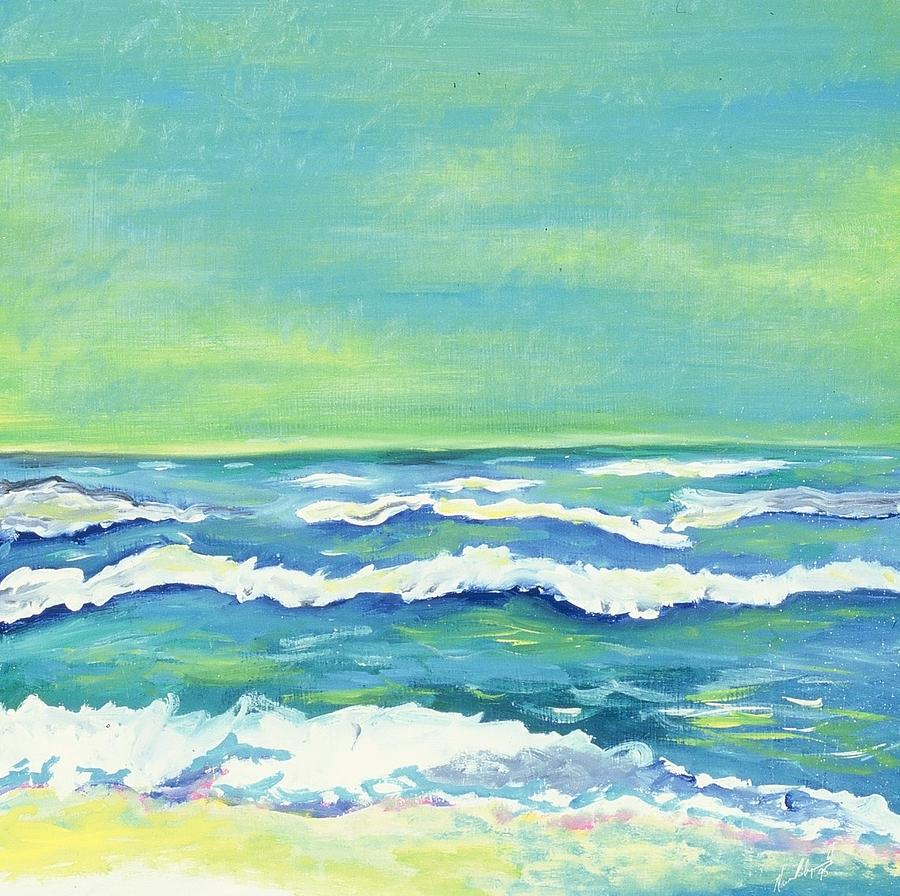 Padre Island Texas Painting by Manny Chapa