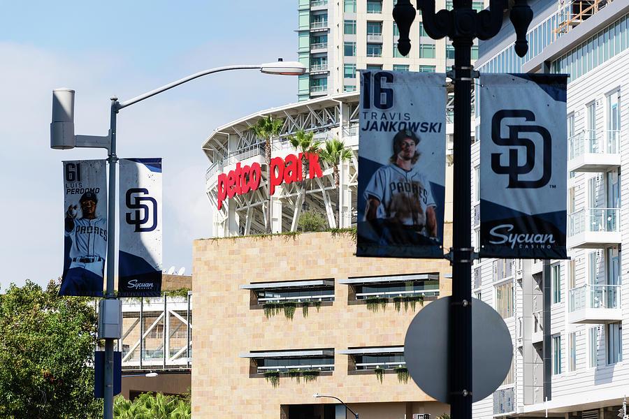 Padres Street Banners Photograph By Robert Vanderwal