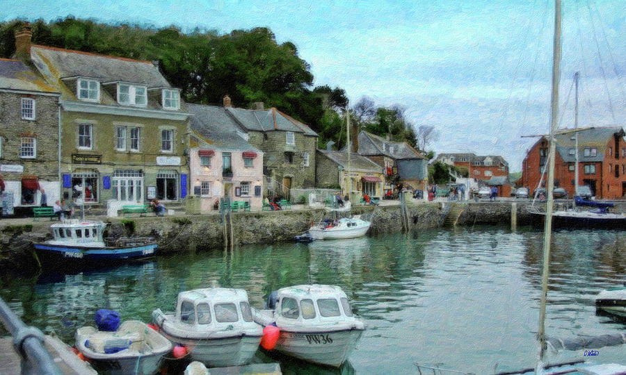 Harbour Painting - Padstow Harbour - P4a16021 by Dean Wittle