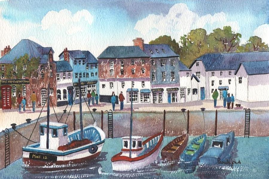 Padstow Harbours Cornwall England Uk Painting By Pamela Jones