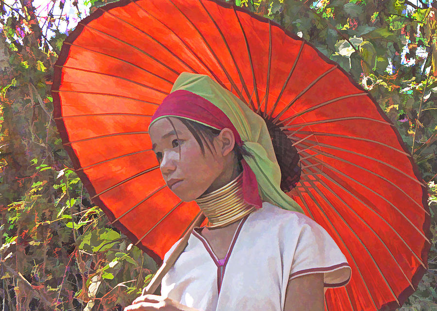 Myanmar Photograph - Paduang Teen by Dennis Cox