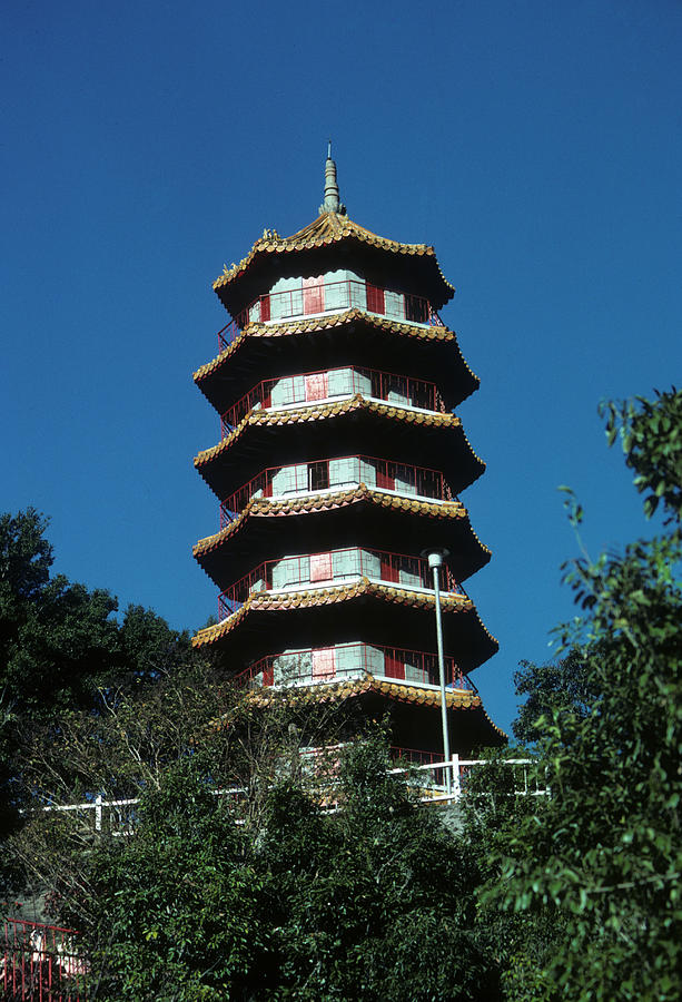 Chinese Photograph - Pagoda in Taiwan by Carl Purcell