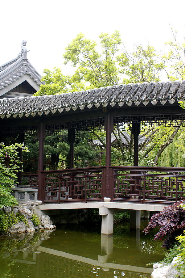 Chinese Garden Photograph - Pagoda by Sonja Anderson