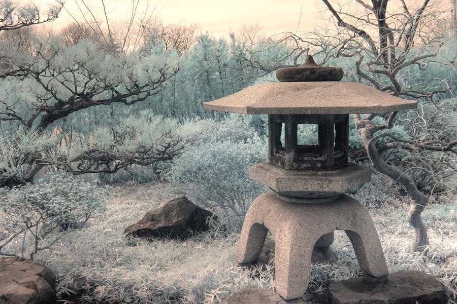 Pagoda Zen infrared photography by Jane Linders