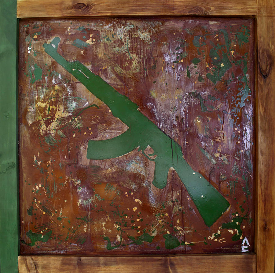 Rust Mixed Media - Paint 2 by Sergey Lysov The Colorifles