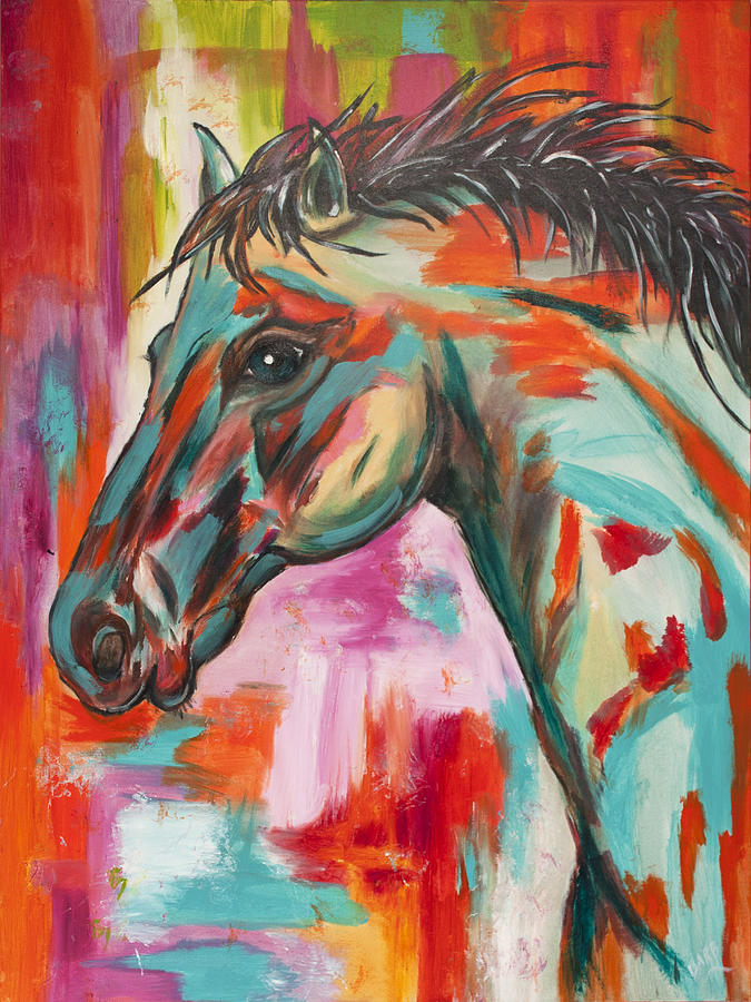 Horse Painting - Paint by Barbara Paddack