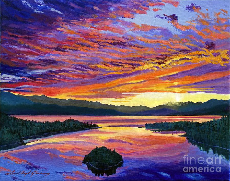 Skies Painting - Paint Brush Sky by David Lloyd Glover