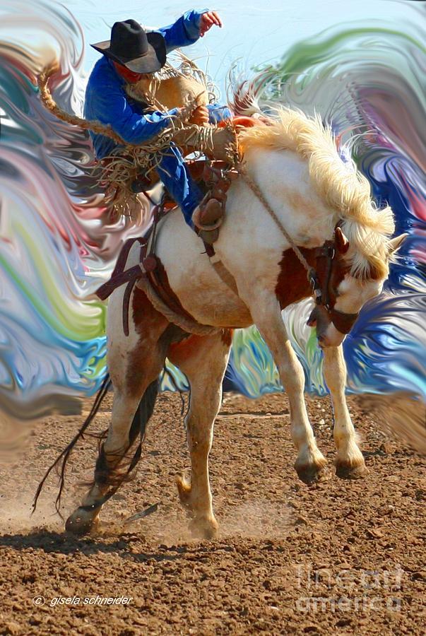 Paint Bucking Horse Montana Art Photo Photograph By
