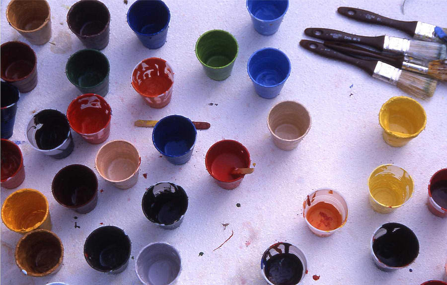Paint Photograph - Paint Cups by Randy Muir