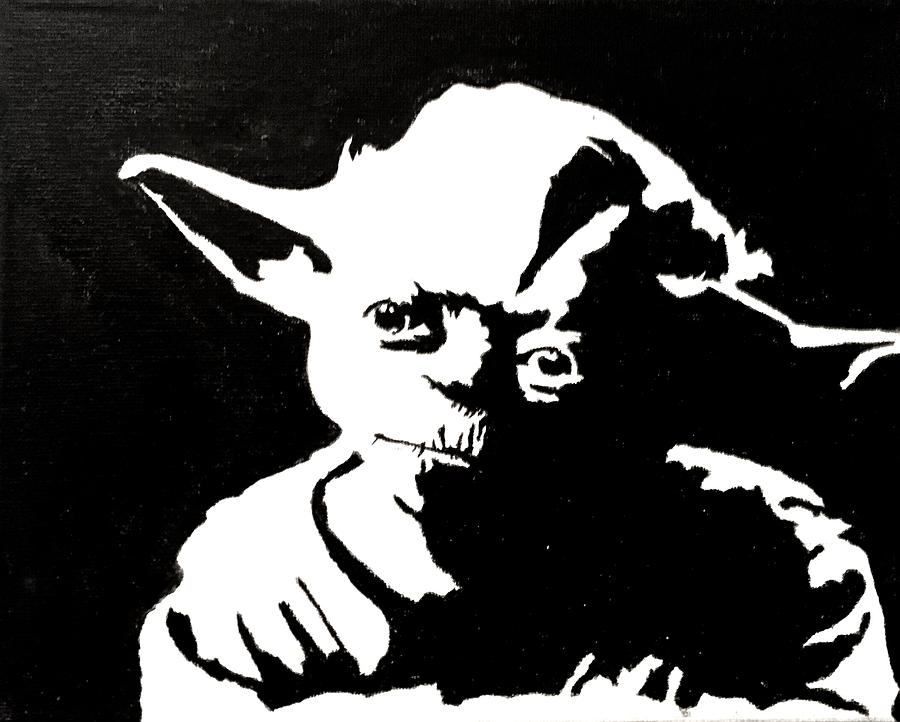 Yoda painting paint me you will by steven gerry
