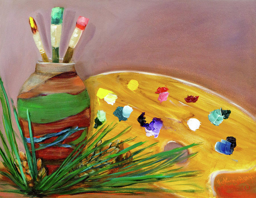 Paint on My Palette by Vicki VanDeBerghe