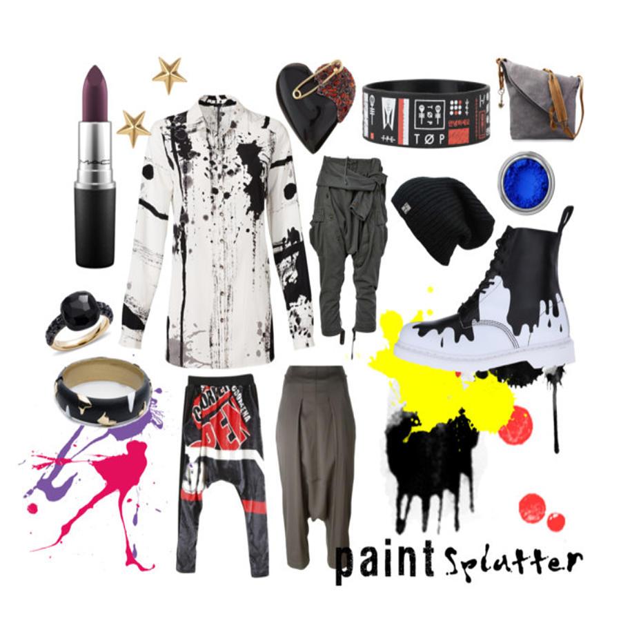 Paint Photograph - Paint Splatter by Faith Bowman