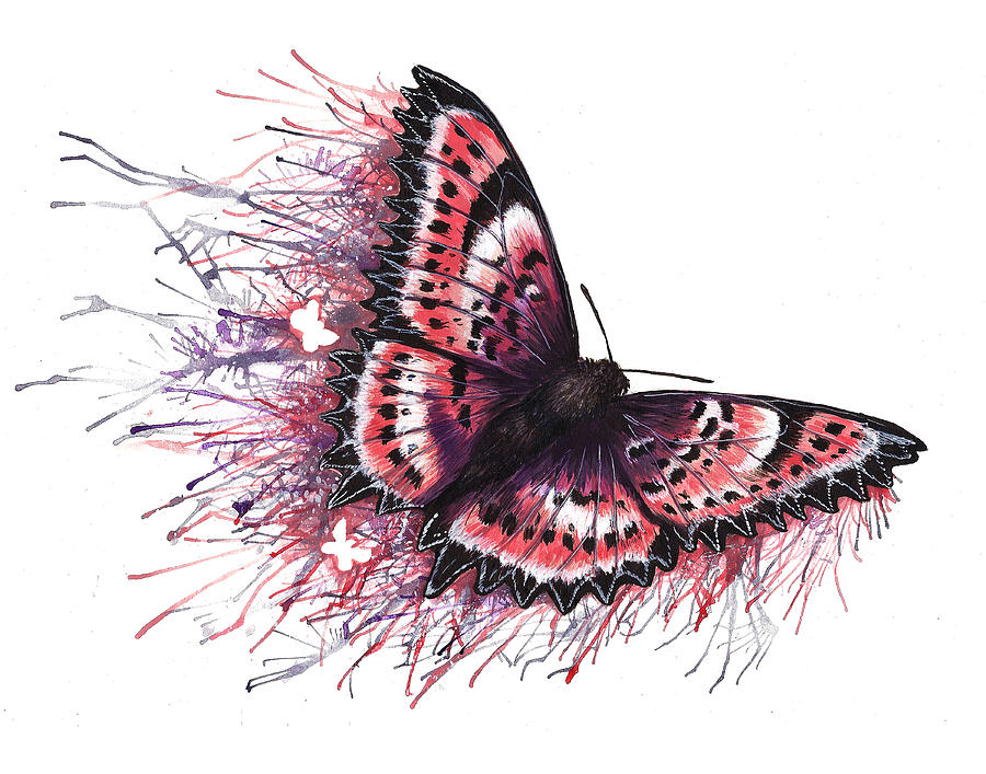 Butterfly Painting - Paint The Town Lovely by Danielle Trudeau