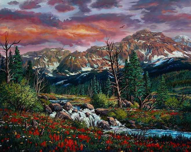 Paintbrush Painting by W  Scott Fenton