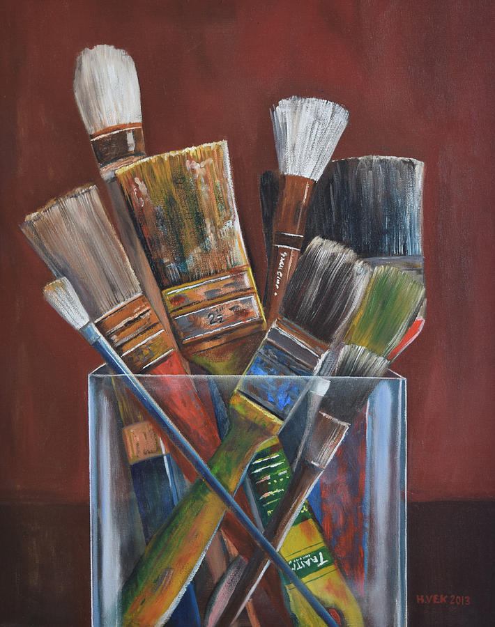 Paintbrushes Painting by Kevin Houlihan