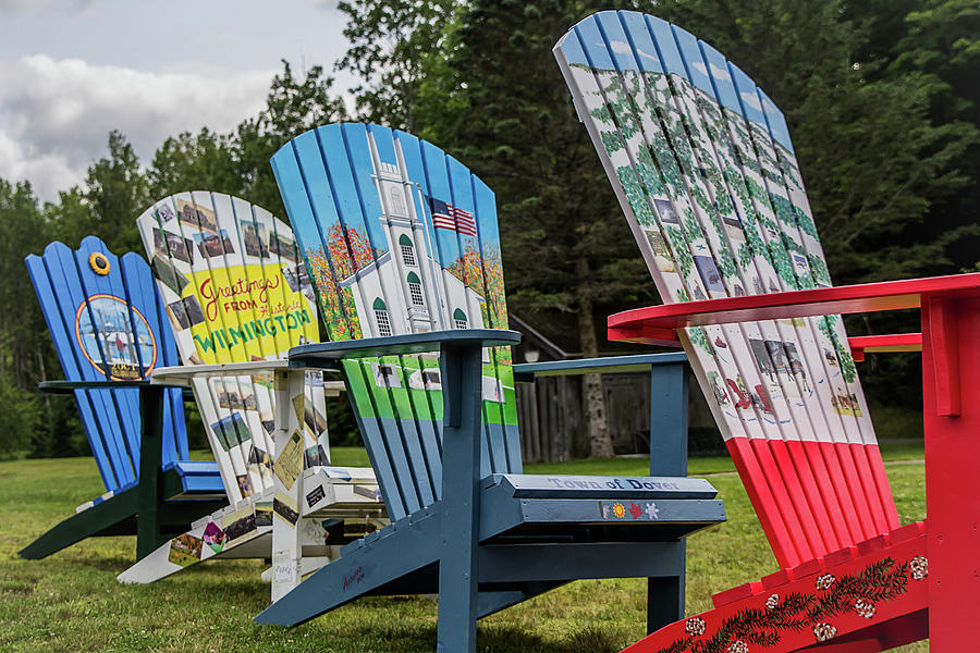 Painted Adirondack Chairs Art