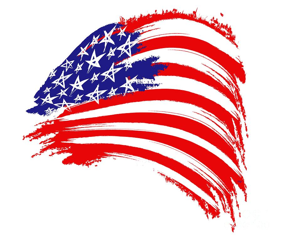 American Flag Digital Art - Painted American Flag by Stefano Senise