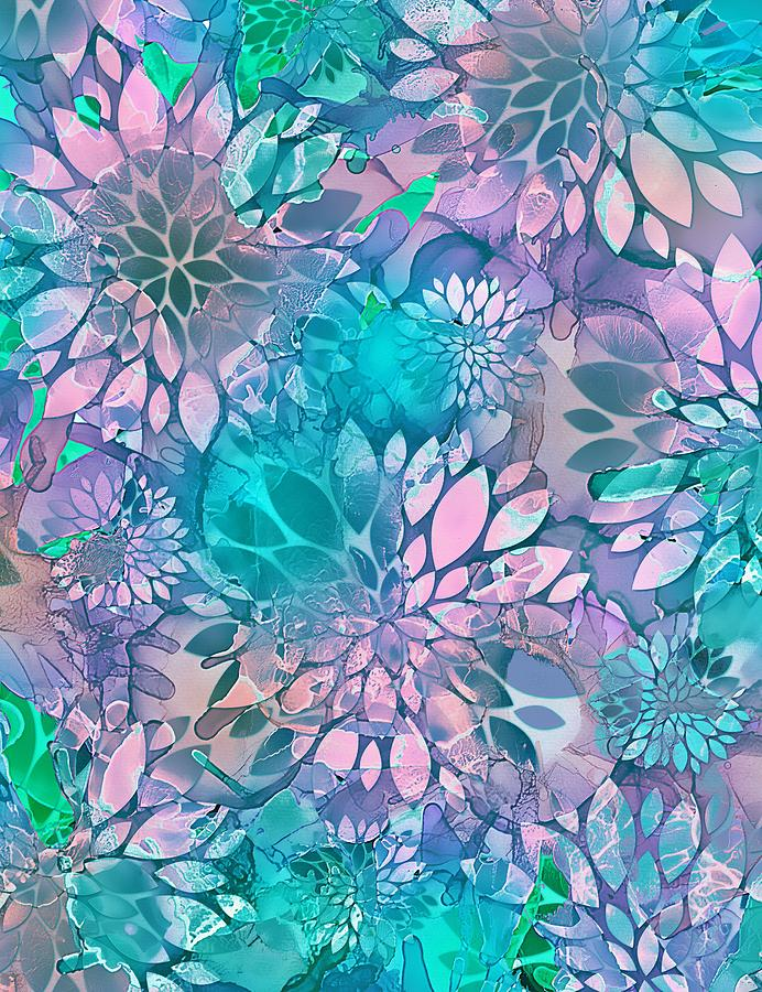 Painted Background Floral Pattern by Klara Acel