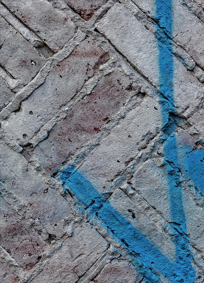 Painted Brick Wall Photograph
