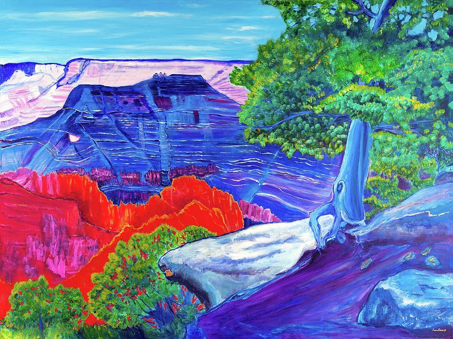Painted Canyon  36 x48 by Santana Star
