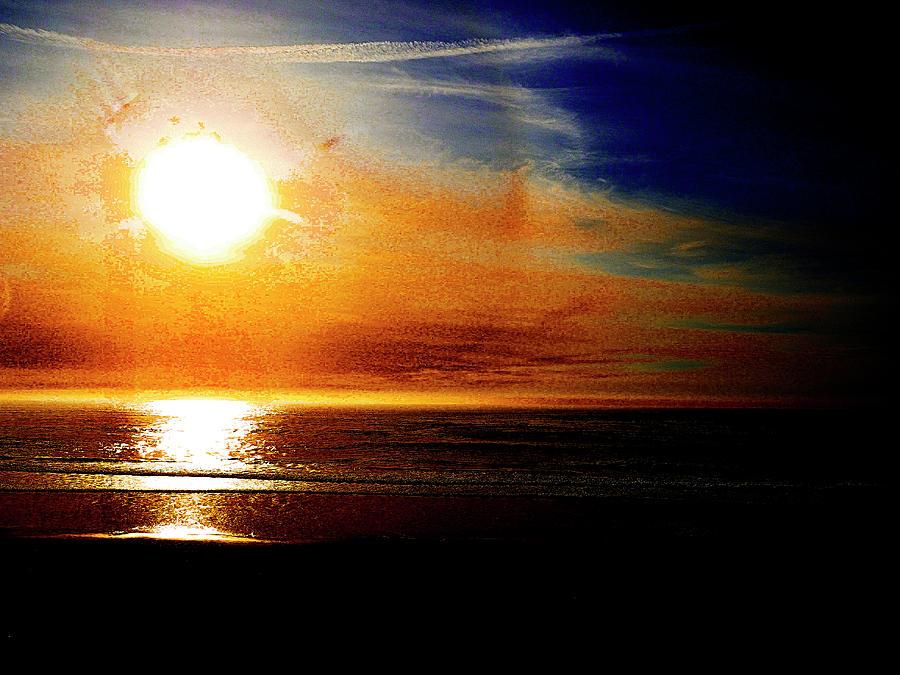 Painted Carmel Sunset by Rebecca Dru