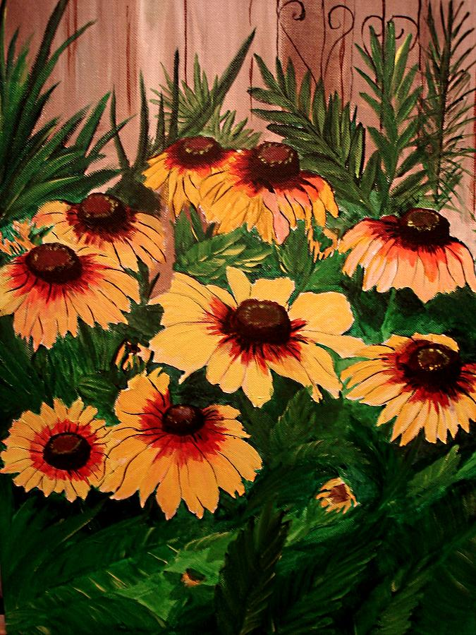 Landscape Painting - Painted Dasies  by Donald Penwell