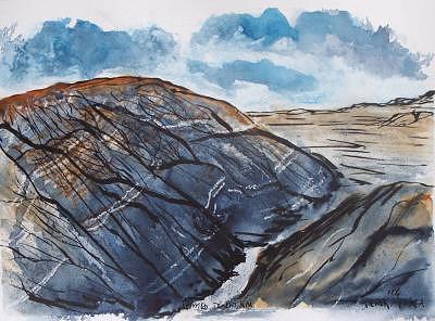 Plein Air Painting - Painted Desert landscape mountain desert fine art by Derek Mccrea