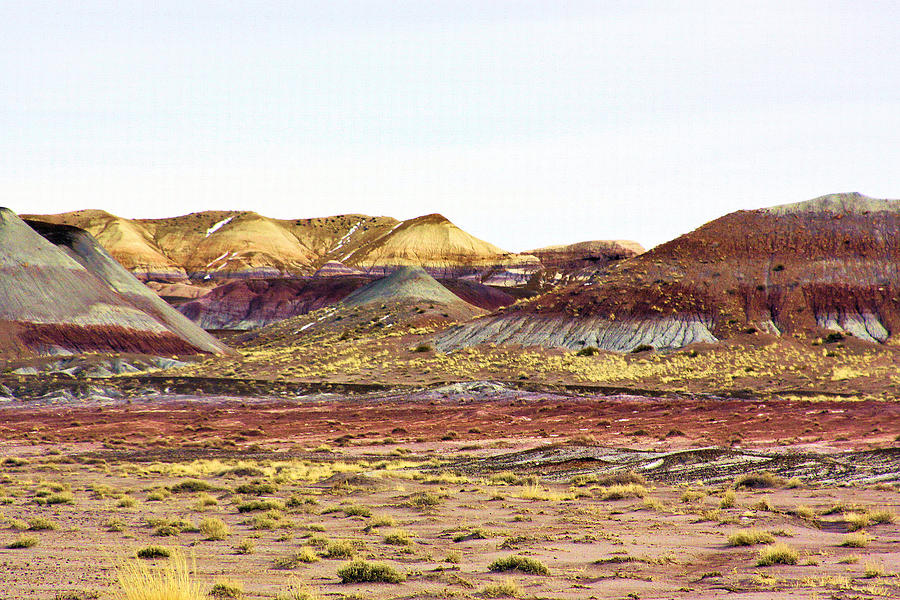 Landscape Photograph - Painted Desert Winter 0602 by Sharon Broucek