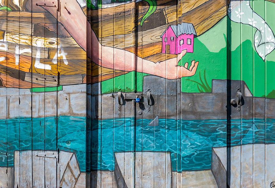 Door Photograph - Painted Door by Jenifer Kim