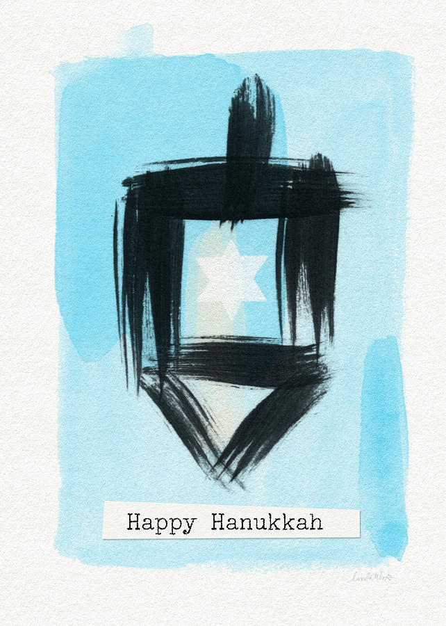 Painted Dreidel Happy Hanukkah- Design By Linda Woods Painting