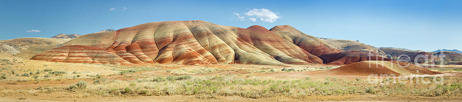 Arid Photograph - Painted Hills Pano 1 by Jerry Fornarotto