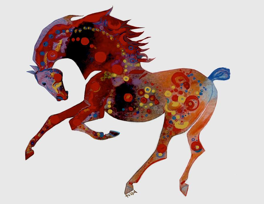 Painted horse 3 by Mary Armstrong