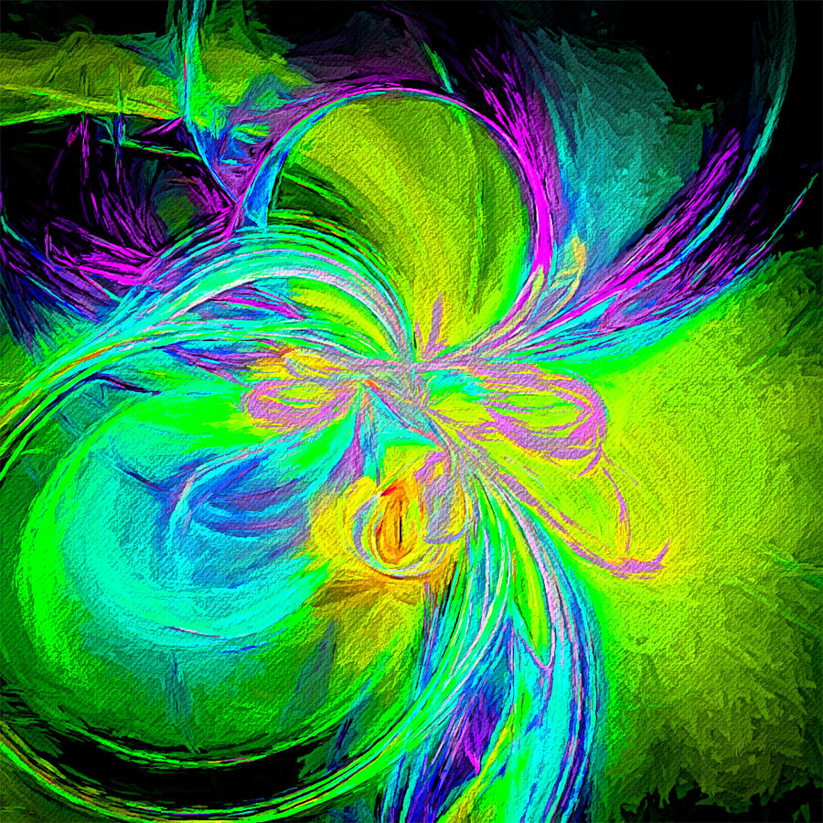 Abstract Digital Art - Painted Illusion by Jennifer Stackpole