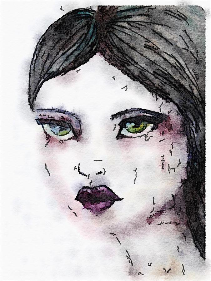 Face Painting - Annabel 6 by Vanessa Katz