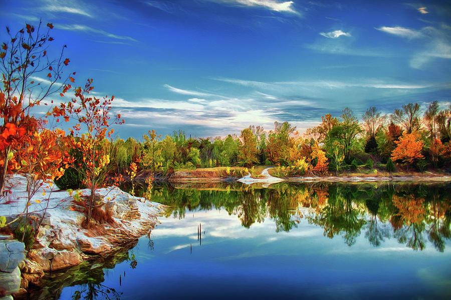 Autumn Photograph - Painted Klondike Autumn by Bill Tiepelman