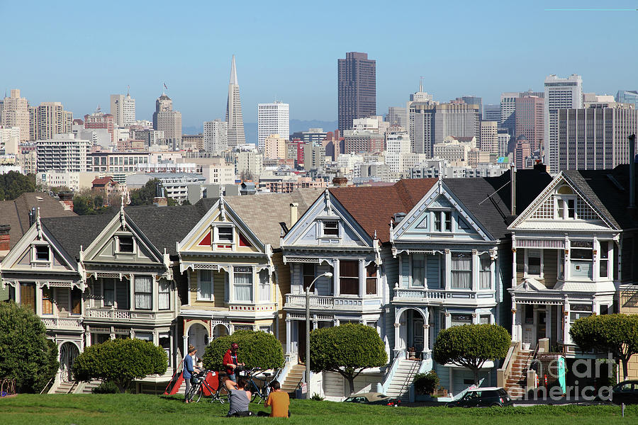 Painted Ladies of Alamo Square San Francisco California 5D27996 by San Francisco Art and Photography