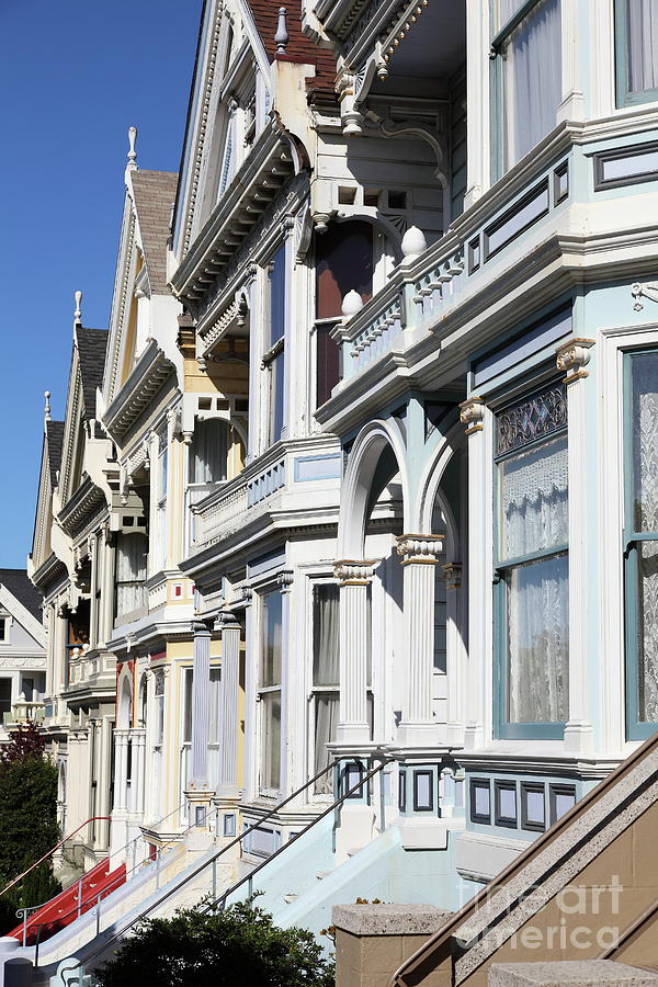 Painted Ladies of Alamo Square San Francisco California 5D28021 by San Francisco Art and Photography